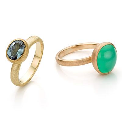 Gouden ring met edelsteen.