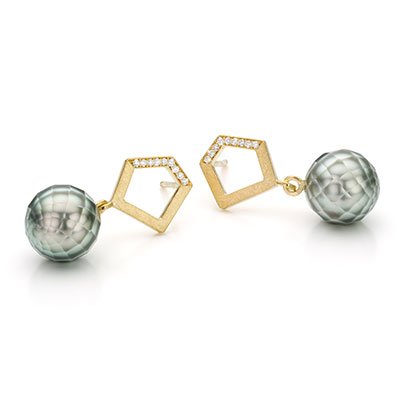 Ootskers met diamant en parel.