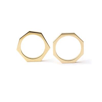 Geometrische gouden ring