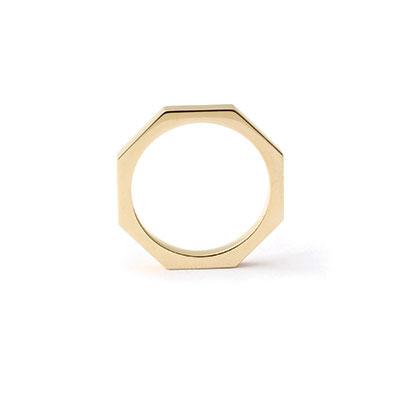 8-hoekige gouden ring