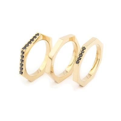 zwarte diamant ring