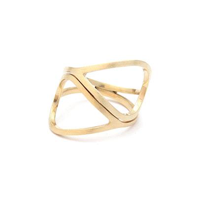 Gouden la linea ring.