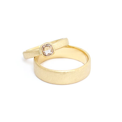 trouwringen set met diamant