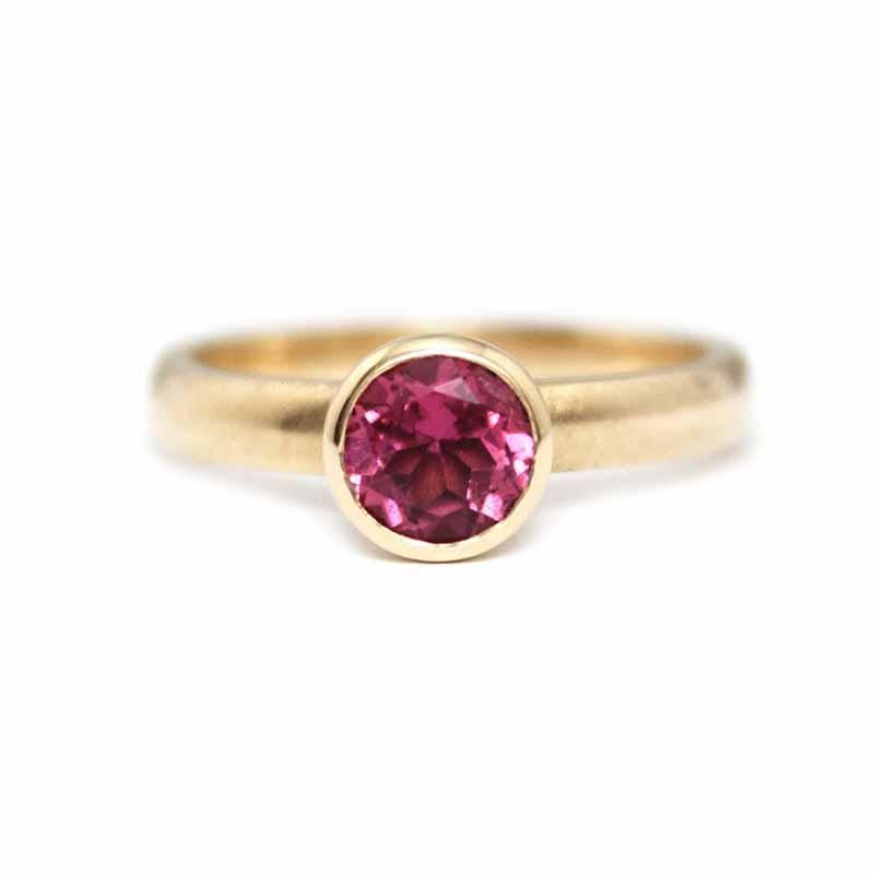 belle ring met roze toermalijn_1