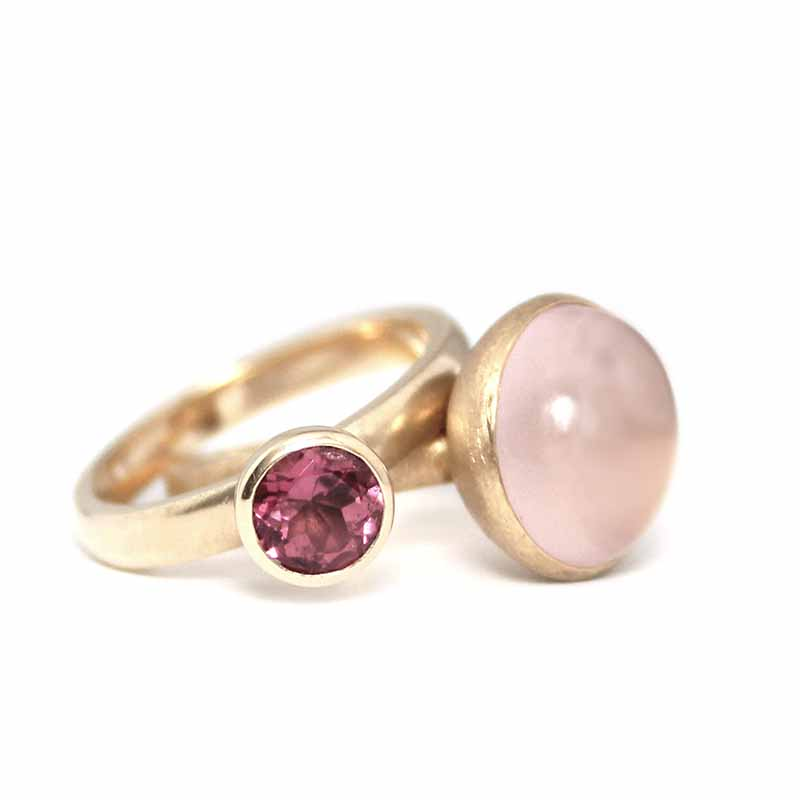 set belle ringen roze
