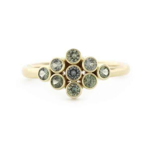 Gouden ring met saffieren